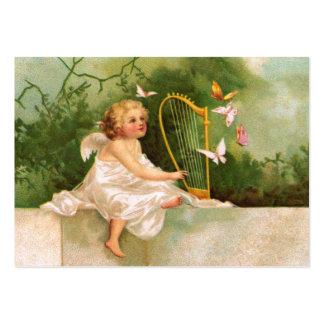 Clapsaddle: Ángel que toca la arpa Tarjetas De Visita Grandes