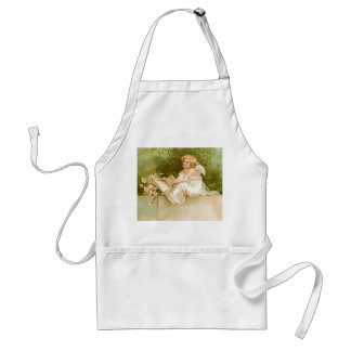 Clapsaddle: Angel with Book and Flowers Adult Apron