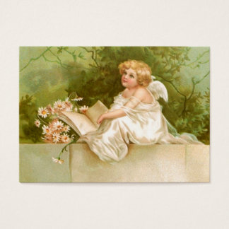 Clapsaddle: Angel with Book and Flowers Business Card