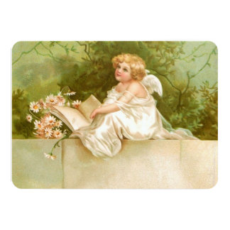 Clapsaddle: Angel with Book and Flowers Card