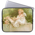 Clapsaddle: Angel with Book and Flowers Computer Sleeves