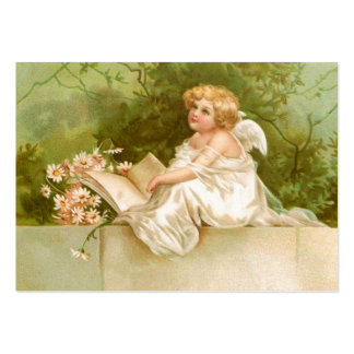 Clapsaddle: Angel with Book and Flowers Large Business Card