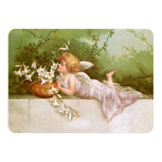 Clapsaddle: Angel with Lilies Card