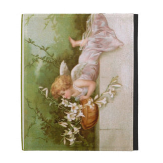 Clapsaddle: Angel with Lilies iPad Folio Cases