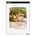 Clapsaddle: Angel with Lilies iPad 3 Skins