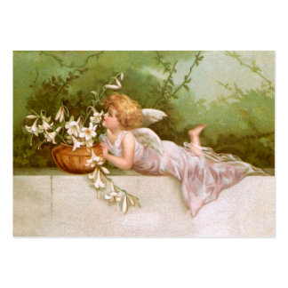 Clapsaddle: Angel with Lilies Large Business Card