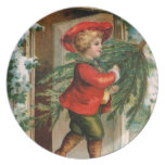 Clapsaddle: Boy with Fir Tree Dinner Plates