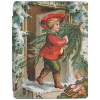 Clapsaddle: Boy with Fir Tree iPad Cover