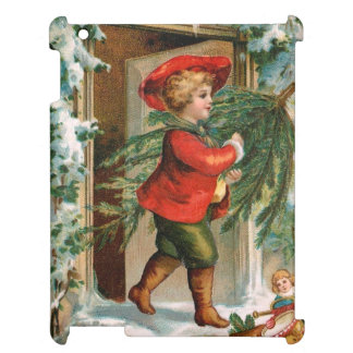 Clapsaddle: Boy with Fir Tree iPad Covers