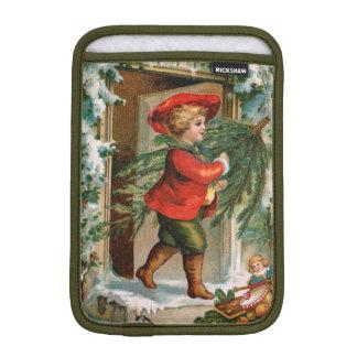 Clapsaddle: Boy with Fir Tree iPad Mini Sleeve