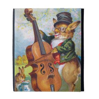 Clapsaddle: Bunny with Cello iPad Folio Case