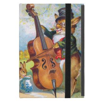 Clapsaddle: Bunny with Cello Case For iPad Mini