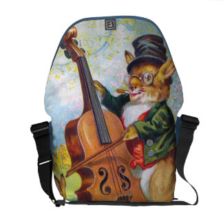 Clapsaddle: Bunny with Cello Courier Bag