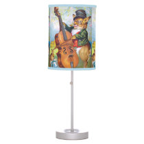 Clapsaddle: Bunny with Cello Desk Lamp