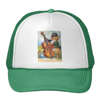 Clapsaddle: Bunny with Cello Trucker Hat