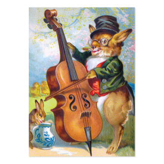 Clapsaddle: Bunny with Cello Large Business Card