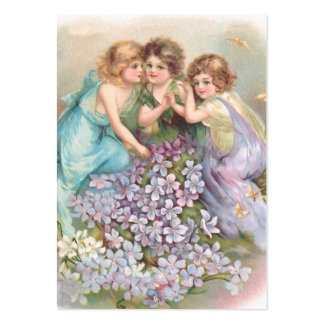 Clapsaddle: Charming Fairies Large Business Card