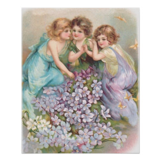 Clapsaddle: Charming Fairies Poster