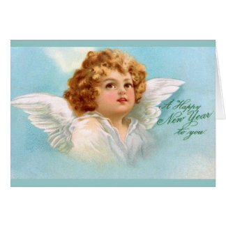 Clapsaddle: Charming New Year Angel Card