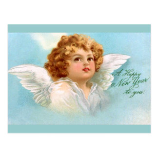 Clapsaddle: Charming New Year Angel Postcard