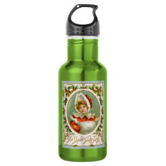 Clapsaddle: Charming Winter Girl 18oz Water Bottle