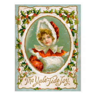 Clapsaddle: Charming Winter Girl Postcard