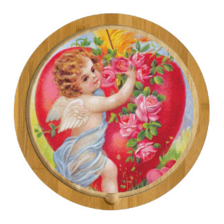 Clapsaddle: Cherub of Love Round Cheeseboard