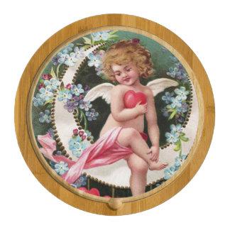 Clapsaddle: Cherub on a Sickle Moon 1 Round Cheese Board