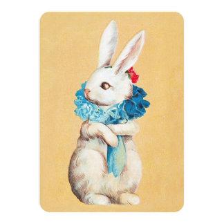 """Clapsaddle: Chica de conejito de pascua con el Invitación 4.5"""" X 6.25"""""""