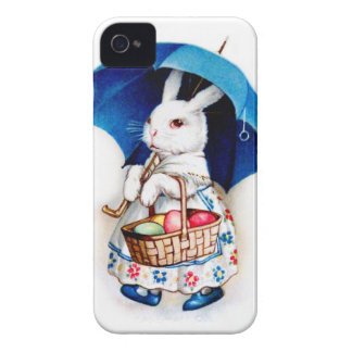 Clapsaddle: Chica de conejito de pascua con el par iPhone 4 Case-Mate Cárcasa