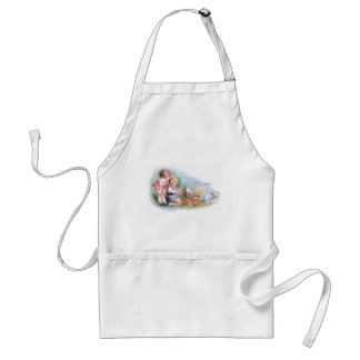 Clapsaddle: Children Playing with Bunny Adult Apron
