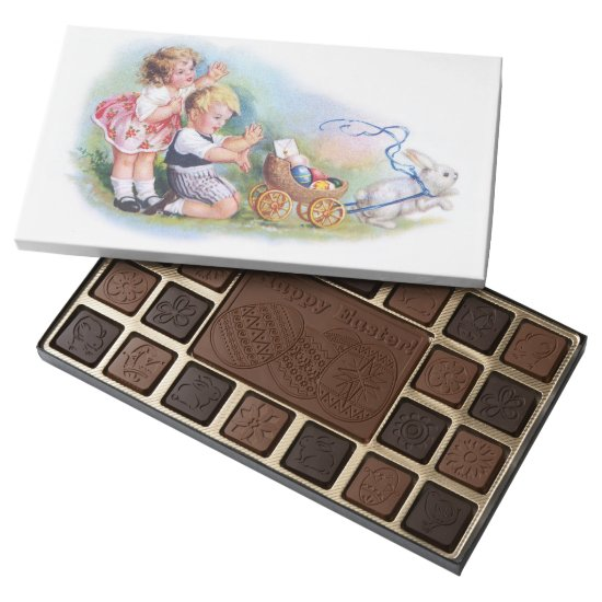 Clapsaddle: Children Playing with Bunny Assorted Chocolates