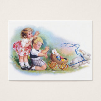 Clapsaddle: Children Playing with Bunny Business Card