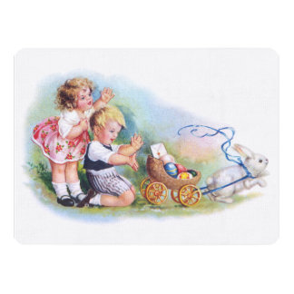 Clapsaddle: Children Playing with Bunny Card