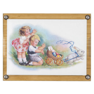 Clapsaddle: Children Playing with Bunny Rectangular Cheeseboard