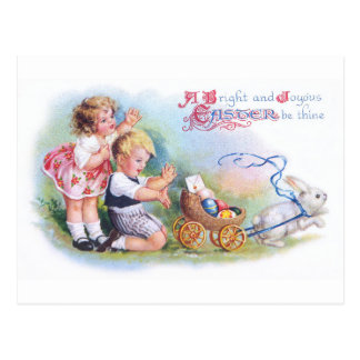 Clapsaddle: Children Playing with Bunny Postcard
