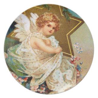 Clapsaddle: Christmas Angel Melamine Plate