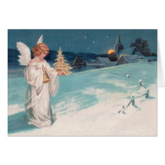 Clapsaddle: Christmas Angel with Bell Card