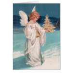 Clapsaddle: Christmas Angel with Bell Greeting Card