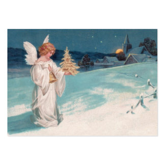 Clapsaddle: Christmas Angel with Bell Large Business Card