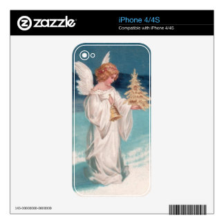 Clapsaddle: Christmas Angel with Bell Skin For The iPhone 4