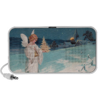 Clapsaddle: Christmas Angel with Bell iPod Speakers