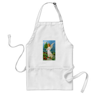 Clapsaddle: Christmas Angel with Fir Tree Adult Apron