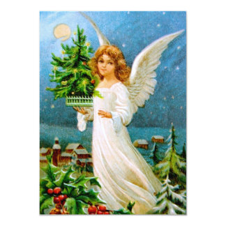 Clapsaddle: Christmas Angel with Fir Tree Card