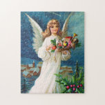 Clapsaddle: Christmas Angel with Toys Jigsaw Puzzle