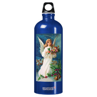 Clapsaddle: Christmas Angel with Toys SIGG Traveler 1.0L Water Bottle