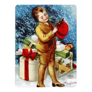 Clapsaddle: Christmas Shopping Personalized Invitation