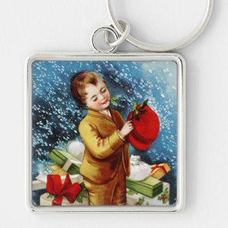 Clapsaddle Christmas Shopping Keychain