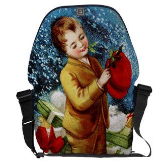Clapsaddle: Christmas Shopping Messenger Bag