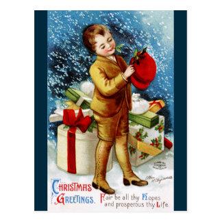 Clapsaddle: Christmas Shopping Postcard